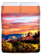 Autumn In Red Rock State Park Duvet Cover