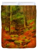 Autumn In Sproul State Forest Duvet Cover