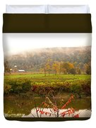 Autumn In The Butternut Valley-six Duvet Cover