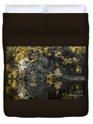 Autumn In The Lake Duvet Cover