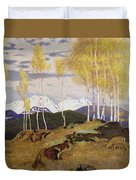 Autumn In The Mountains Duvet Cover by Adrian Scott Stokes