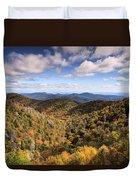Autumn In The Blue Ridge Mountains Duvet Cover