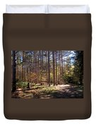 Autumn In The Pines Duvet Cover