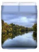 Autumn In The River Duvet Cover