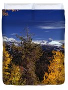 Autumn In The Tetons Duvet Cover
