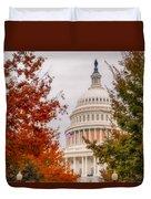 Autumn In The Us Capitol Duvet Cover