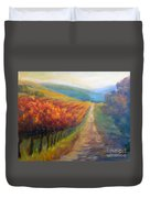 Autumn In The Vineyard Duvet Cover