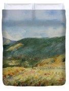 Harvest Time In Napa Valley Duvet Cover