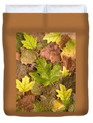 autumn is coming 5 - A carpet of autumn color leaves  Duvet Cover