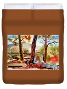 Autumn Jon Boats I Duvet Cover