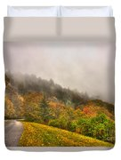 Autumn Just Around The Bend Blue Ridge Parkway In Nc Duvet Cover