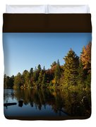 Autumn Lake In The Forest - Reflection Tranquility Duvet Cover