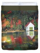 Autumn - Lake - Reflecton Duvet Cover