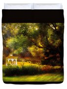 Autumn - Landscape - Past And Present Duvet Cover