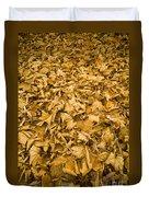 Autumn Leaf Background Duvet Cover