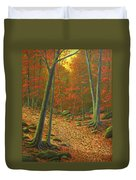 Autumn Leaf Litter Duvet Cover