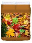 Autumn Leaf Salad Duvet Cover