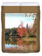 Autumn Leaning Tree Duvet Cover