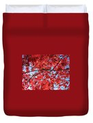 Autumn Leaves And Blue Sky Duvet Cover