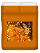 Autumn Leaves Art Print Yellow Orange Duvet Cover