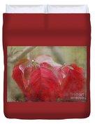Autumn Leaves Blank Greeting Card Duvet Cover