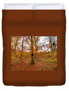 Autumn Leaves Common Wood  Duvet Cover