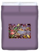 Autumn Leaves In Creek Bed Duvet Cover