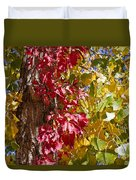 Autumn Leaves In Palo Duro Canyon 110213.97 Duvet Cover
