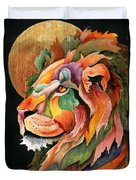 Autumn Lion Duvet Cover