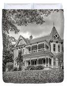 Autumn Mansion Bw Duvet Cover