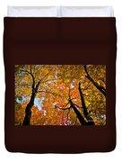 Autumn Maple Trees Duvet Cover
