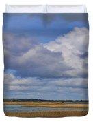 Autumn Marsh At Shell Island Duvet Cover