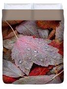 Autumn Melange Duvet Cover by Rona Black