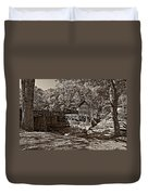 Autumn Mill Sepia Duvet Cover