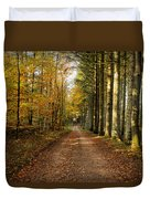 Autumn Mood In The Forrest Duvet Cover