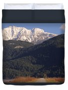 Autumn Snowcapped Mountain - Golden Ears - British Columbia Duvet Cover