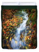 Autumn Mountain Stream Duvet Cover