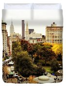 Autumn - New York Duvet Cover by Vivienne Gucwa