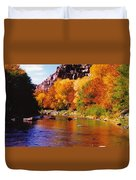 Autumn Oak Creek  Duvet Cover