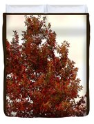 Autumn Oak On A Cloudy Day Duvet Cover