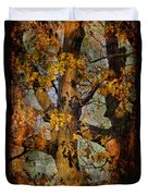 Autumn Oaks In Dance Mode Duvet Cover