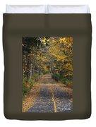 Autumn On Bike Trail  Duvet Cover