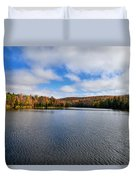 Autumn On Lake Plumbago Duvet Cover