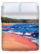 Autumn On Lake Superior Duvet Cover