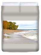 Autumn On The Beach Duvet Cover