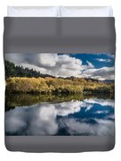 Autumn On The Klamath 11 Duvet Cover