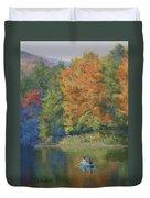 Autumn On The Lake Duvet Cover