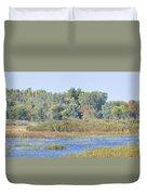 Autumn On The Marsh Duvet Cover