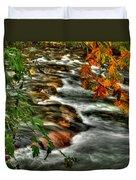 Autumn On The River Duvet Cover