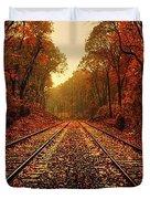 Autumn On The Tracks Duvet Cover